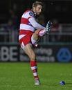 Gloucester's Nicky Robinson slots a kick