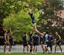 Australia's David Pocock claims a lineout