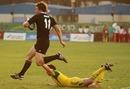 New Zealand's Kurt Baker evades the last tackle to score