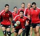 Aironi scrum-half Tito Tebaldi breaks with the ball during training
