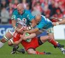 Mick O'Driscoll comes under intense pressure