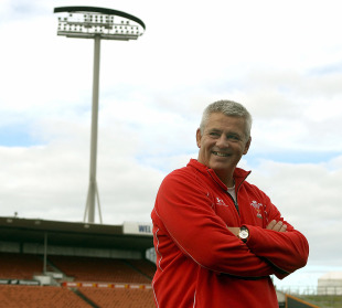 Wales coach Warren Gatland poses for cameras, Waikato Stadium, Hamilton, New Zealand, June 25, 2010