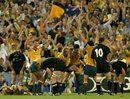 Australia celebrate victory over New Zealand at RWC'03