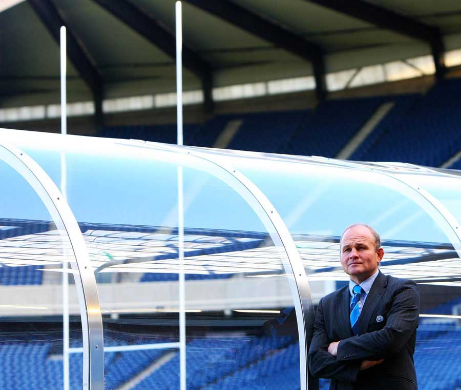Scotland coach Andy Robinson poses at Murrayfield