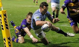 Northland's Simon Munro scores in the corner