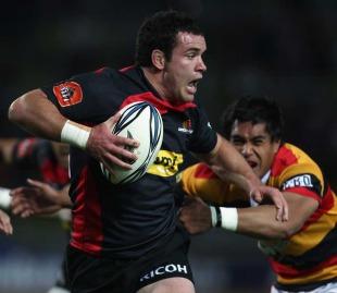 Canterbury's Ryan Crotty breaks through the Waikato rearguard