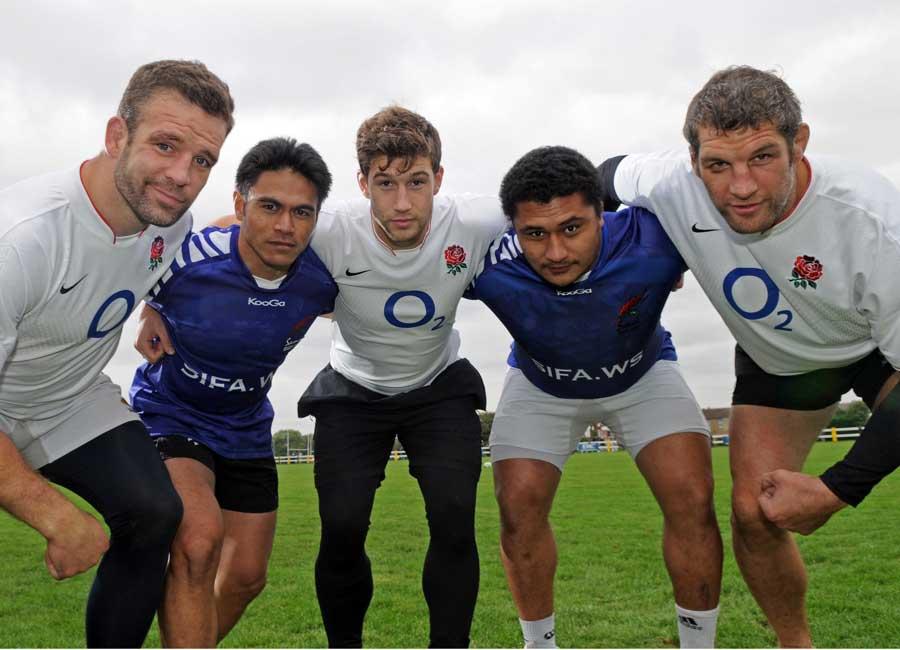 England and Samoa players promote their forthcoming international
