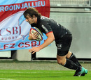Full-back Maxime Medard crosses for Toulouse