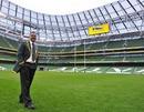 Peter de Villiers walks around the Aviva stadium