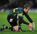 Northampton's Stephen Myler prepares to take a kick on goal