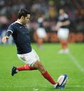France scrum-half Dimitri Yachvili kicks a penalty