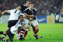 Fiji scrum-half Nemia Kentale feeds his backs
