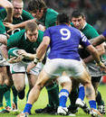 Ireland's Tom Court charges straight through a maul