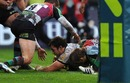 Newcastle flanker Redford Pennycook slides in to score