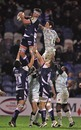 Sale's Nic Rouse claims a lineout ball