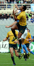 Wallabies fullback Kurtley Beale claims a high ball