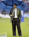 South Africa coach Peter De Villiers braves the rain