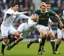 Jean de Villiers splinters England's defensive line