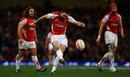 Wales fly-half Stephen Jones lands a penalty