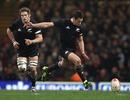 New Zealand fly-half Dan Carter lands his record-breaking penalty