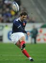 France scrum-half Morgan Parra lands a penalty