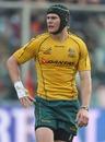 Australia's Berrick Barnes looks for the ball