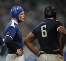 Julien Bonnaire and Thierry Dusautoir let defeat sink in