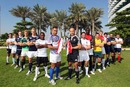 The captains gather for the start of the IRB Sevens Series