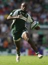 Topsy Ojo of London Irish runs with the ball