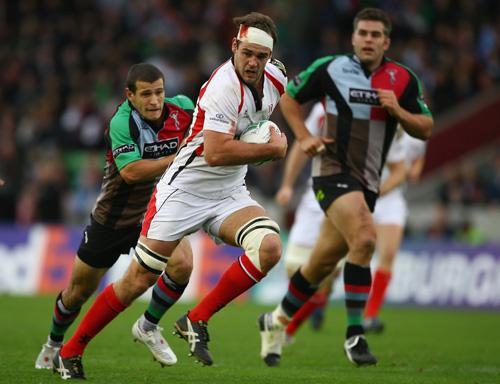 Matt McCullough of Ulster makes a break