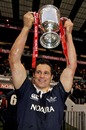 Oxford captain Nick Haydon lifts the Varsity Match silverware