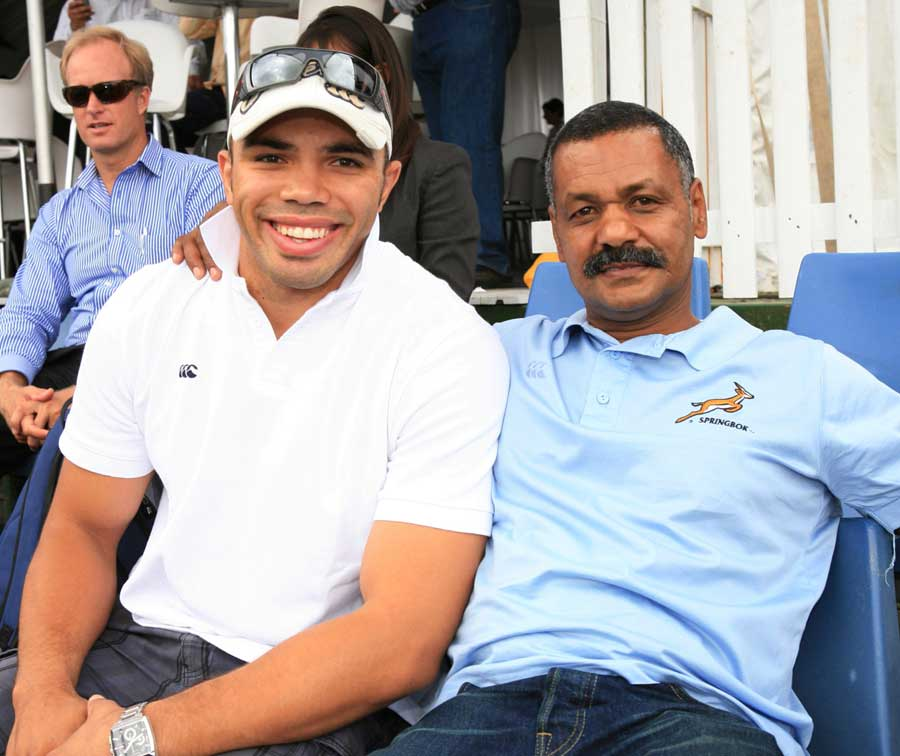 Springboks winger Bryan Habana and coach Peter de Villiers