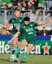 Aironi's Tito Tebaldi kicks for goal