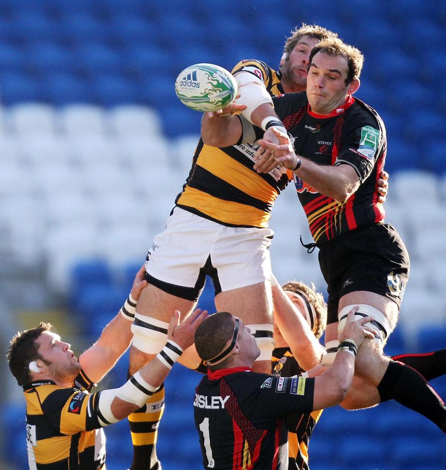 Azerbaijan Rugby: Wasps' Simon Shaw And Dragons' Robert Sidoli Grapple For
