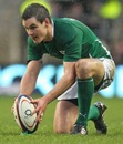 Ireland's Jonathan Sexton lines up a kick