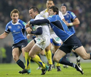 Leinster's Shane Horgan shackles Clermont's Benoit Baby