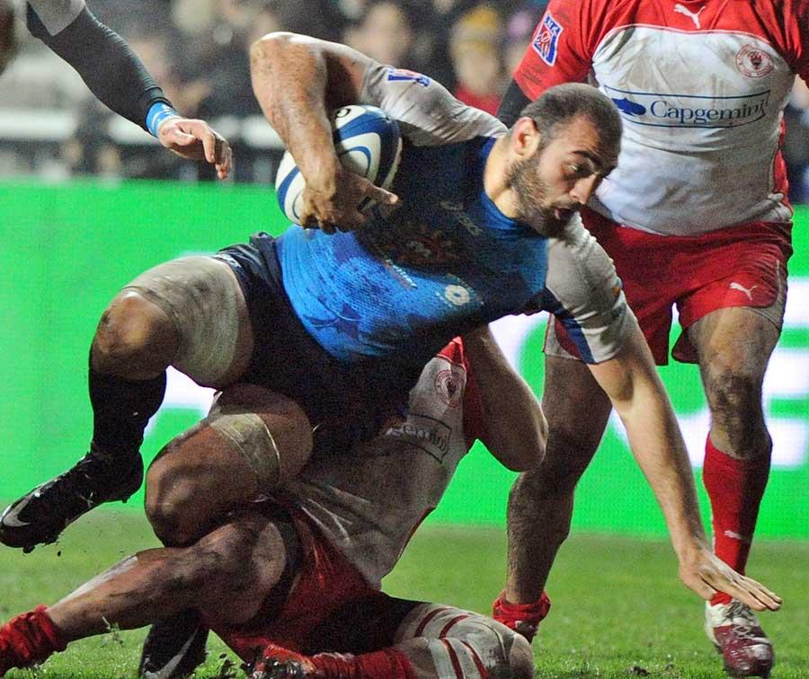 Montpellier's Mamuka Gorgodze earns some hard yards