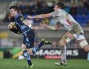 Cardiff Blues' Ceri Sweeney evades Aironi's Joshua Furno
