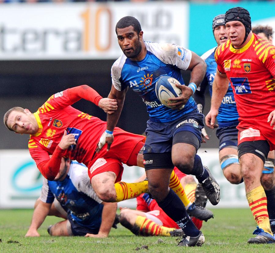 Montpellier's Masi Matadigo makes a break