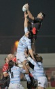 Toulon's Juan Martin Fernandez Lobbe claims a lineout