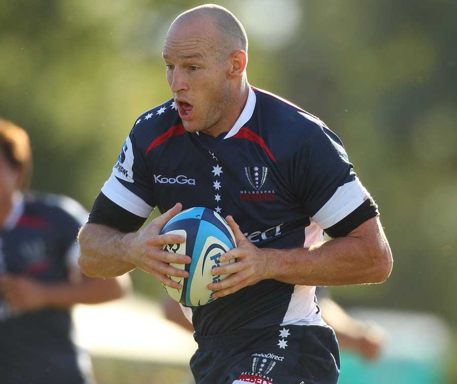 Melbourne Rebels centre Stirling Mortlock makes his return to action