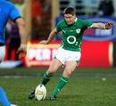 Ireland's Ronan O'Gara lands his game-winning drop goal
