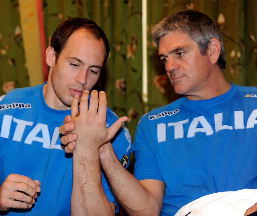 Italy captain Sergio Parisse and coach Nick Mallett
