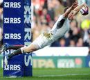England wing Chris Ashton swan dives in to score