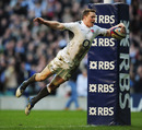England wing Chris Ashton claims his fourth try