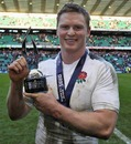 England's Chris Ashton poses with his Man of the Match honour