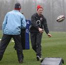 England wing Chris Ashton pops a pass