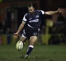 Sale fly-half Charlie Hodgson attempts a drop goal