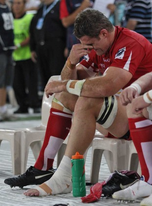 Reds captain James Horwill reflects on an ankle injury, Waratahs v Reds, Super Rugby, ANZ Stadium, Sydney, Australia, February 26, 2011