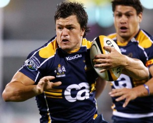 The Brumbies' Adam Ashley-Cooper looks for an opening, Brumbies v Cheetahs, Super 14, Canberra Stadium, Canberra, Australia, April 10, 2010